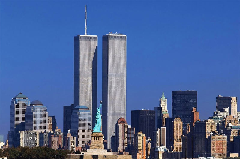 The Twin Towers prior to the 9/11 attacks