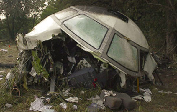 The remains of the Comair Flight 5191 cockpit. Source: Wikipedia