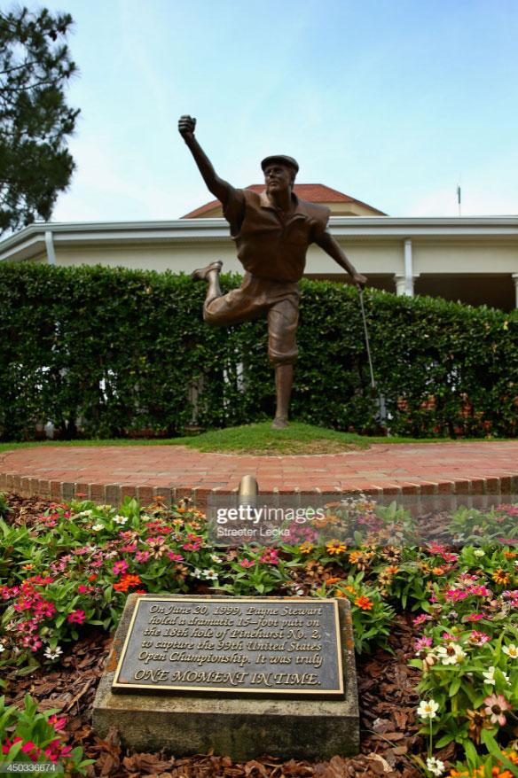 Payne Stewart statue at Pinehurst